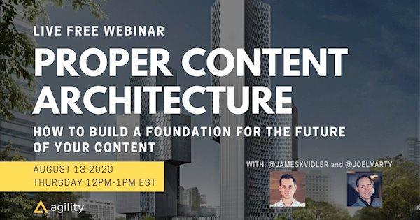 webinar content architecture