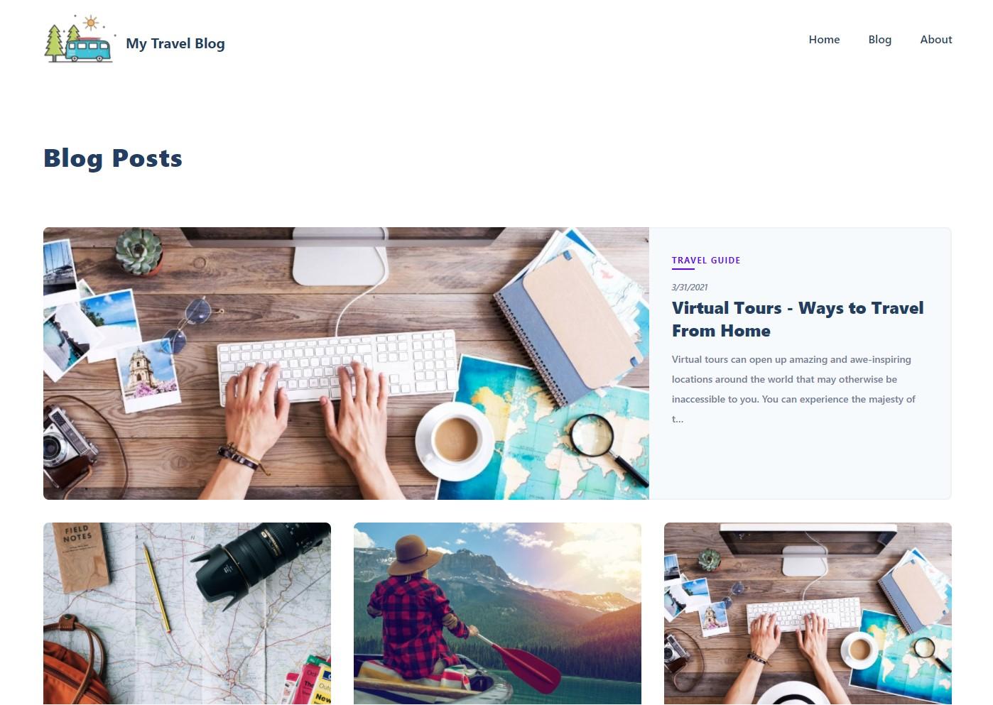 nuxt.js blog starter
