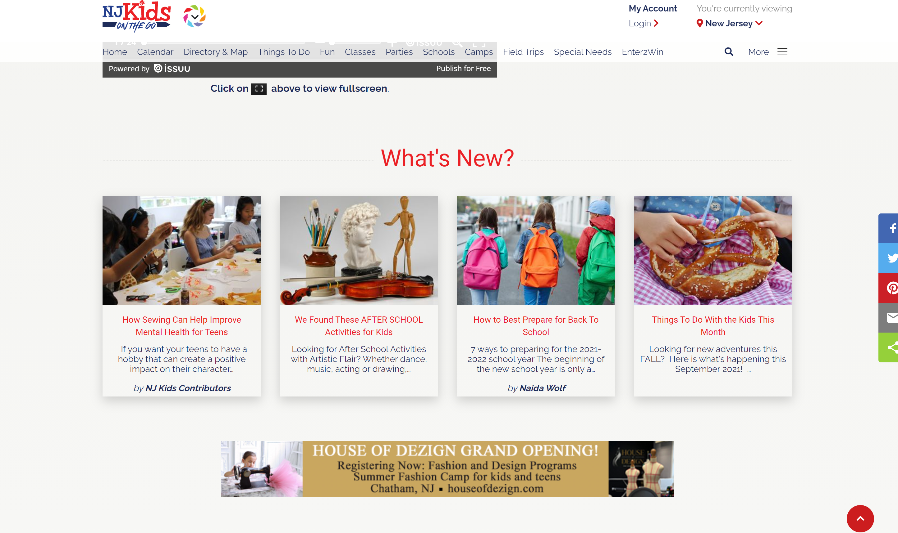 Keeping New Jersey Kids busy with NJ Kids online: Agility delivers an intuitive CMS for a busy editors team