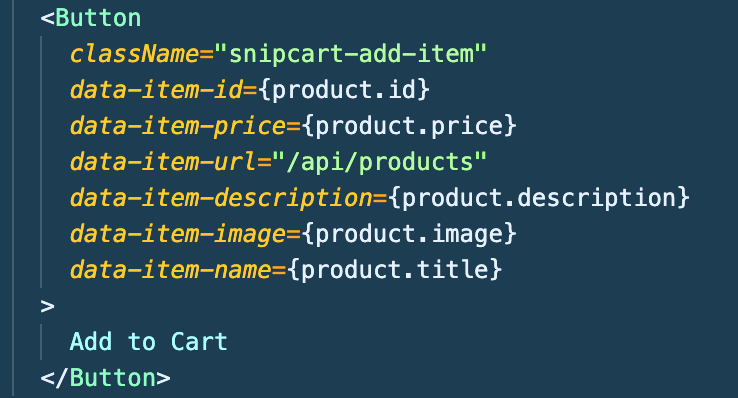 Snipcart Add To Cart Data Attributes