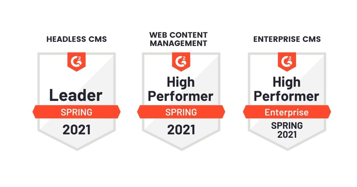 Agility CMS received 6 badges