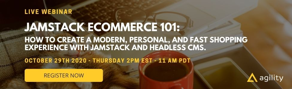 Webinar: JAMstack Ecommerce 101