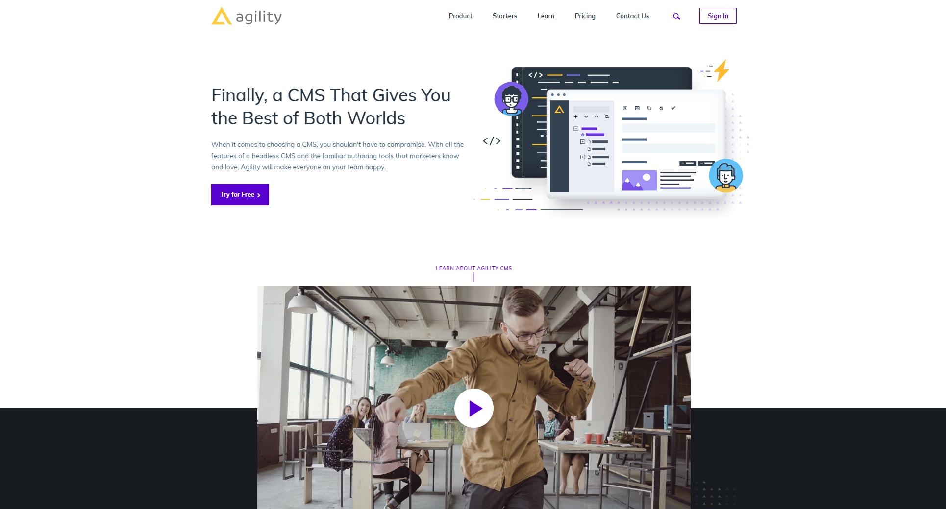 agility cms home page