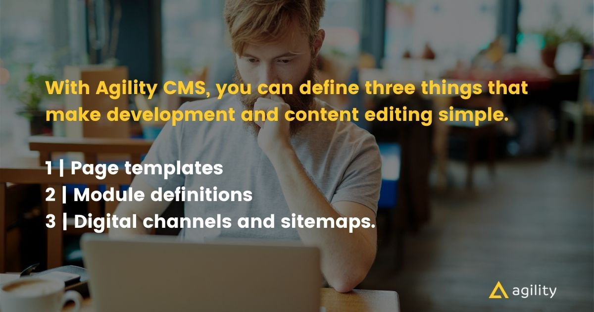 headless cms page management editor tools with Agility CMS