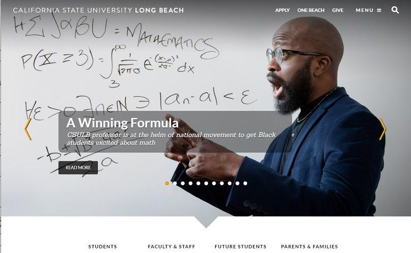 California State University website screenshot