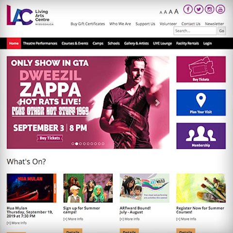 living-arts-centre-website