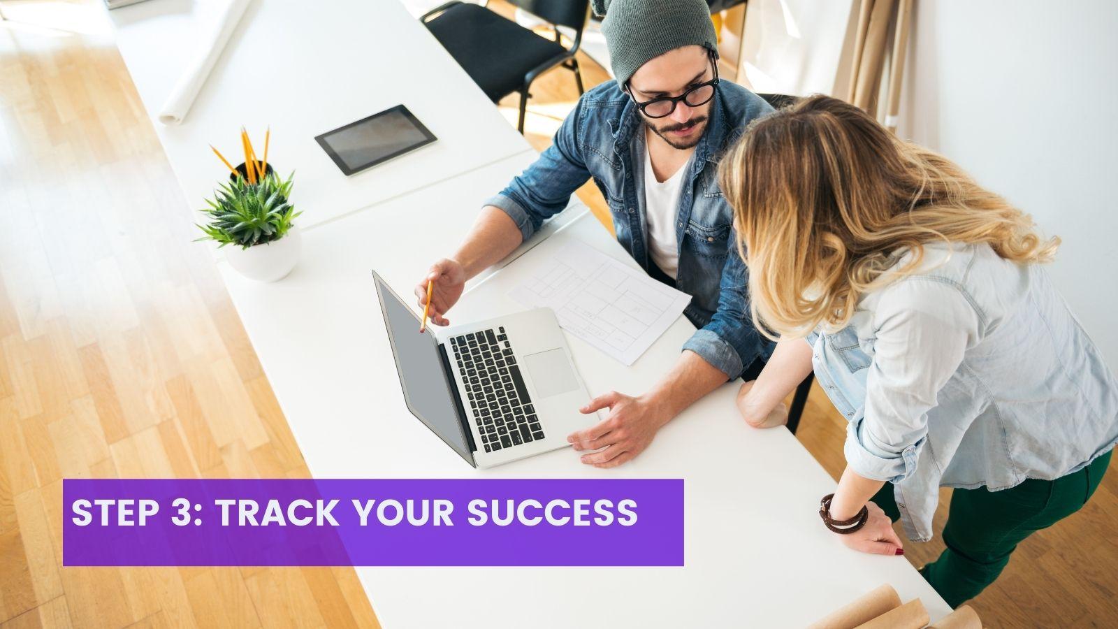 Step 3 for agile teams, tracking success, on agilitycms.com