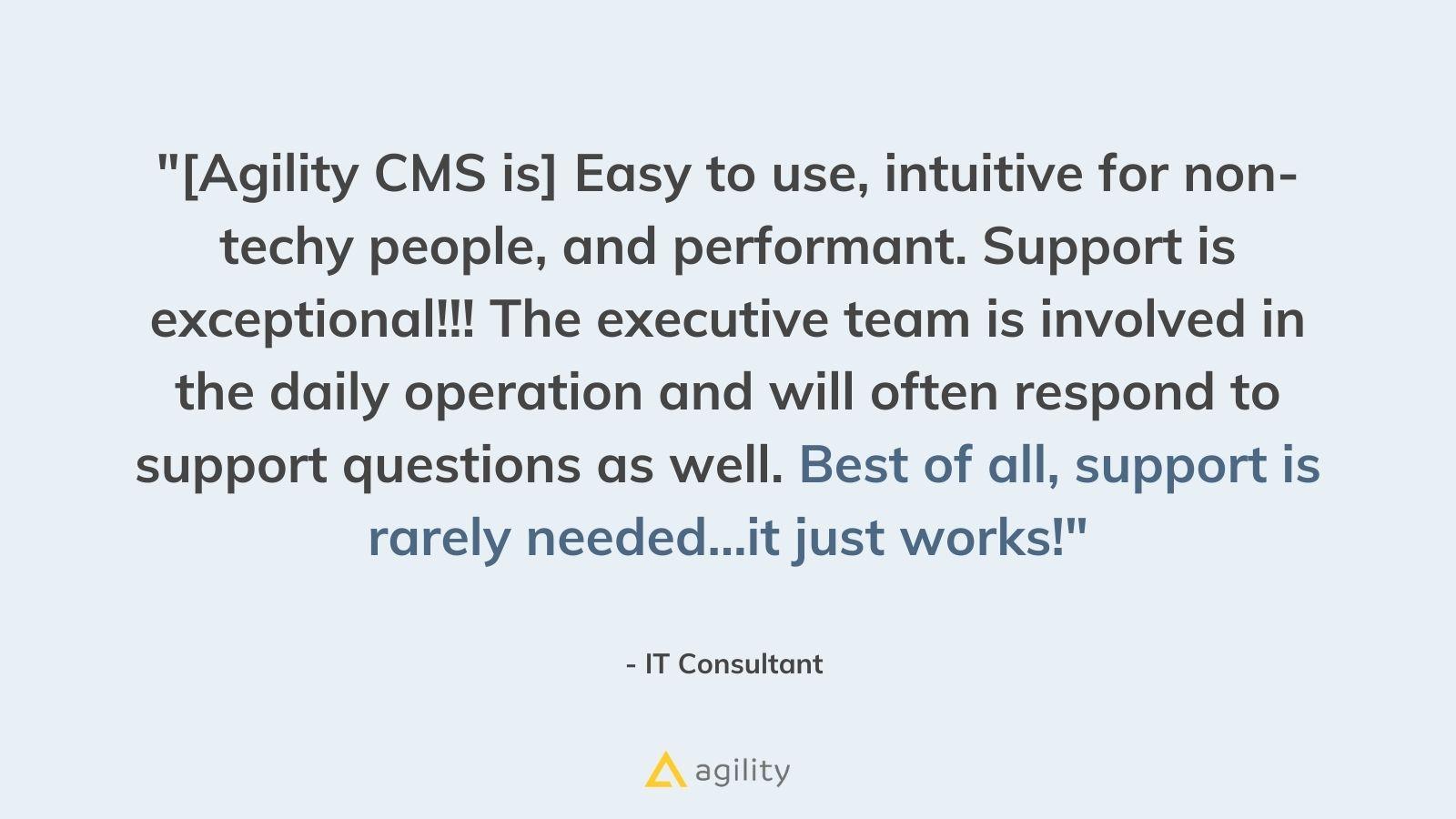 Identifying tasks on agilitycms.com