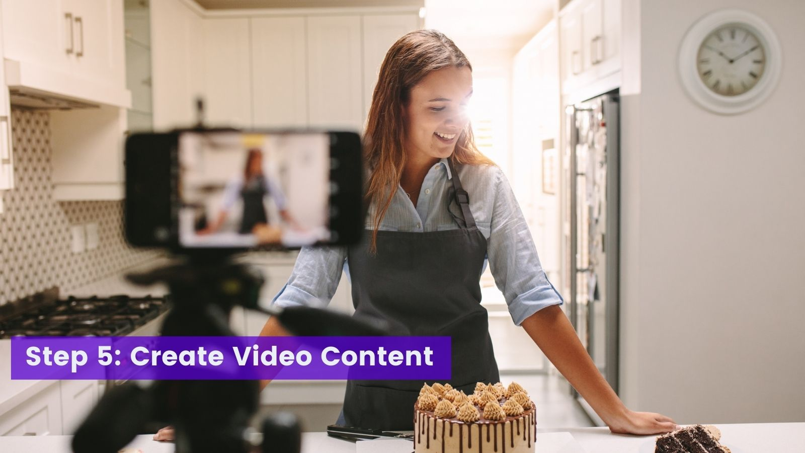 Creating videos for baking business on agilitycms.com