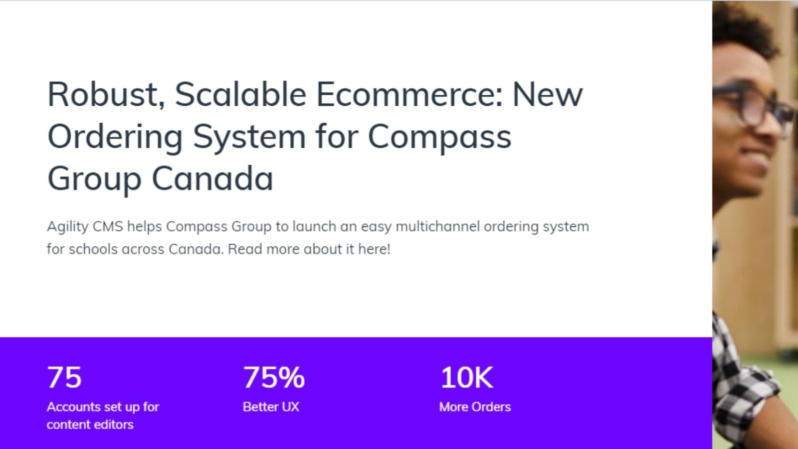 UX team increasing conversions on agilitycms.com