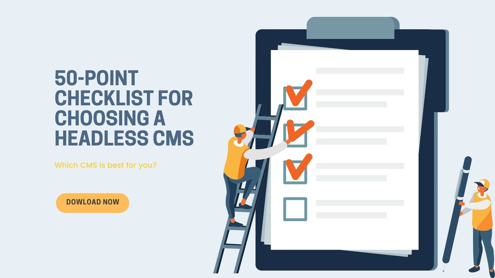 Graphic: how to choose a headless cms on agilitycms.com