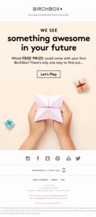 Birchbox ecommerce email marketing