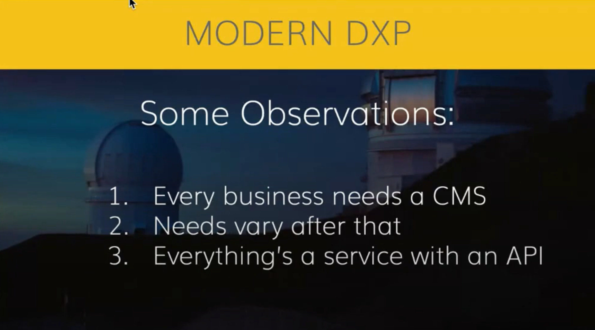 moderns dxp observations from agility cms