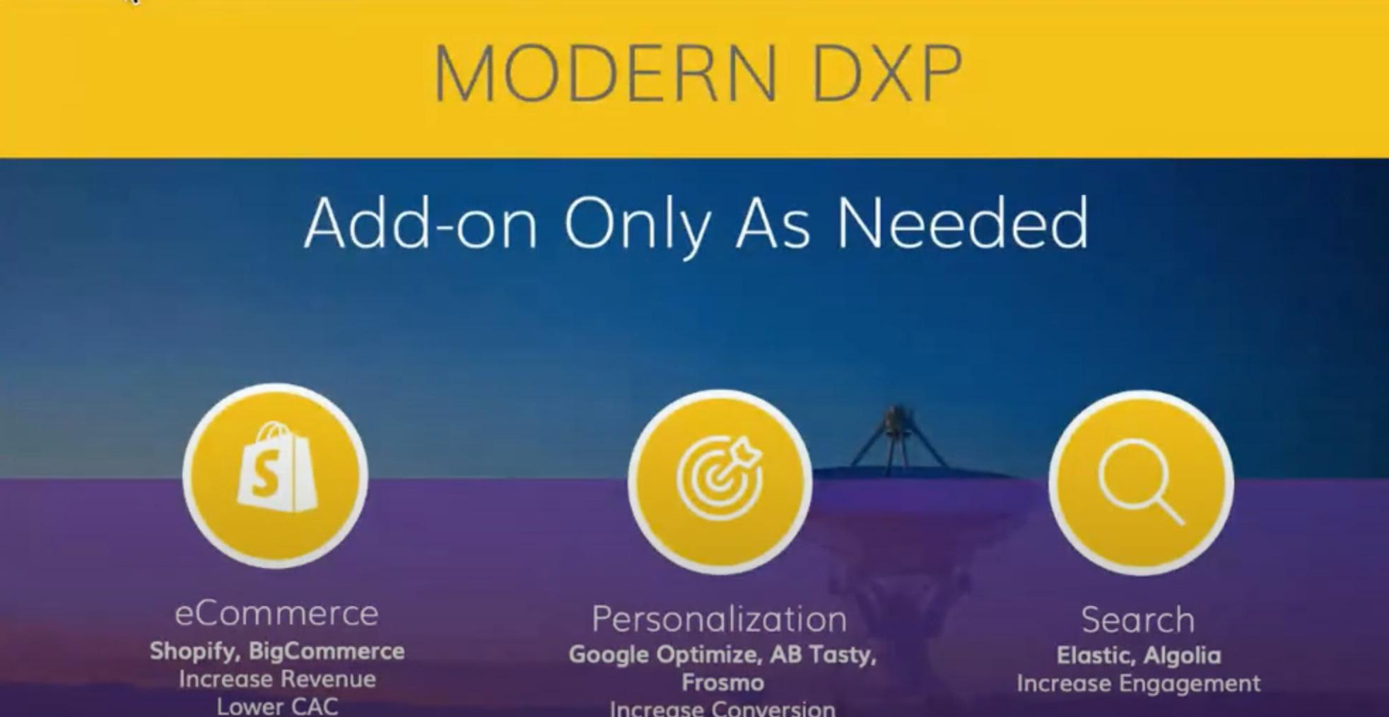 Modern dxp add ons