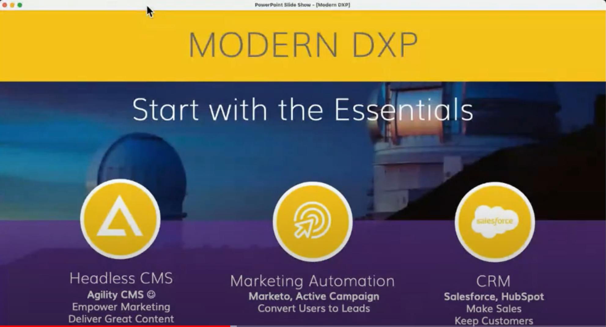 Modern dxp essentials agilitycms