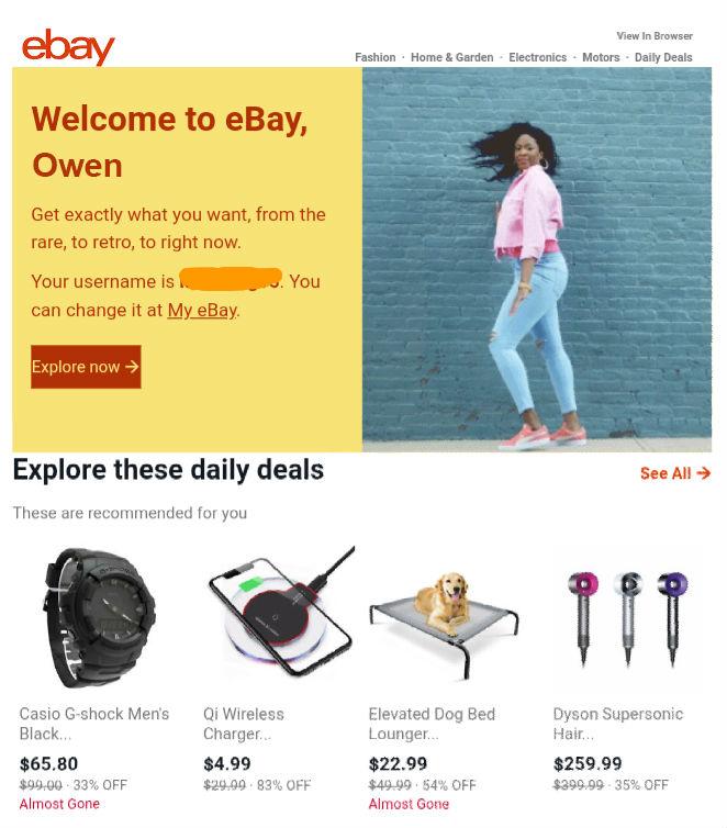 Ebay Personalize