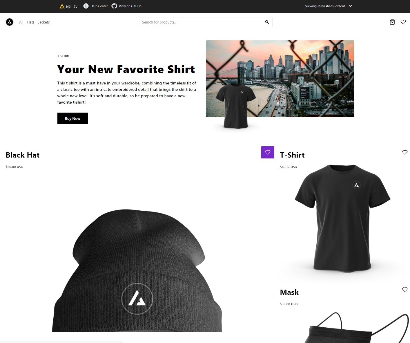 Commerce with Next.js With just a few clicks, Next.js developers can clone, deploy, and fully customize their own store, managed with Agility CMS.