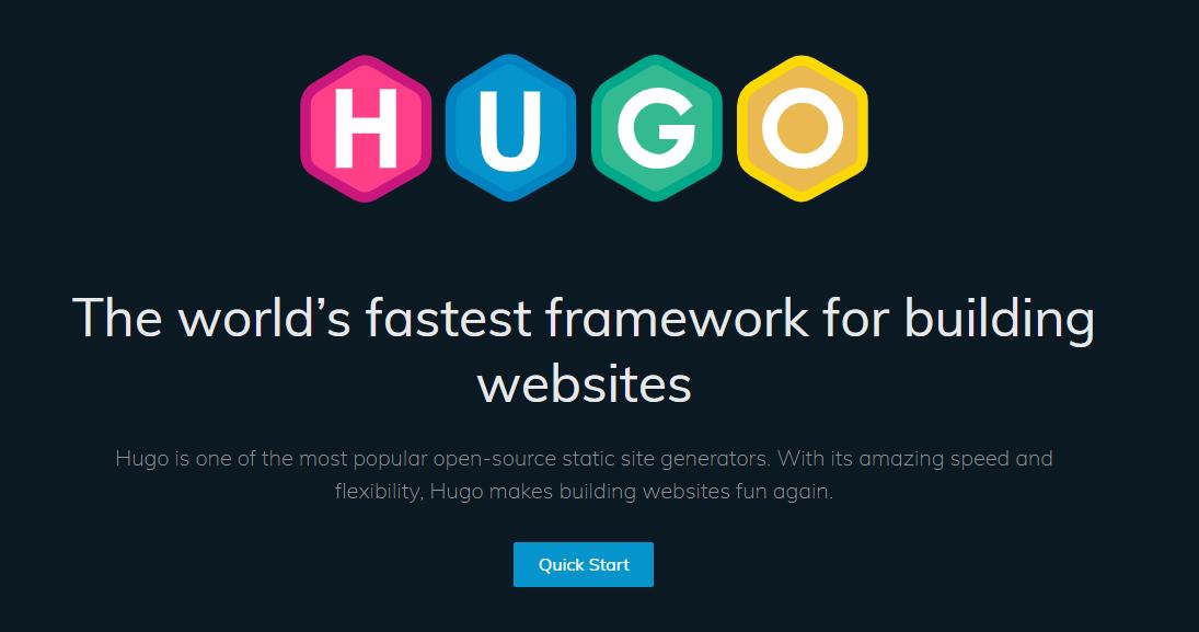 Hugo open source static site