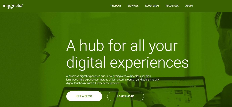 Magnolia hub for digital experience