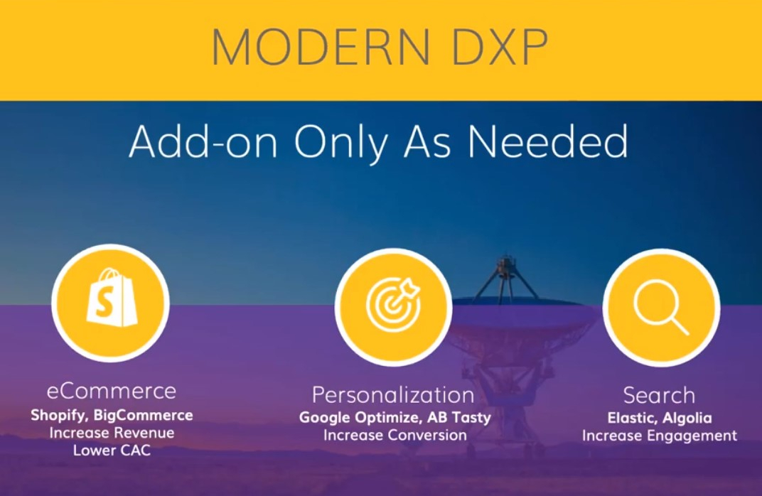 modern dxp add only what is needed