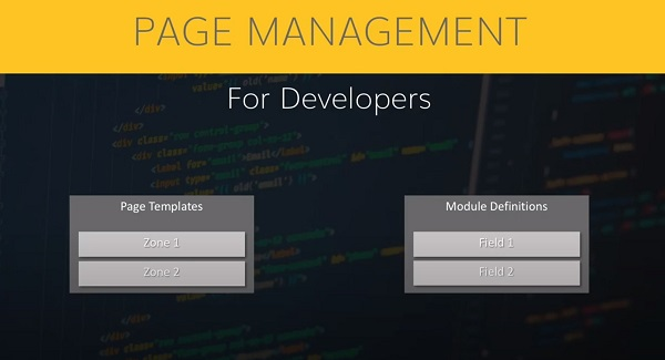 Page management for developers example on agilitycms.com