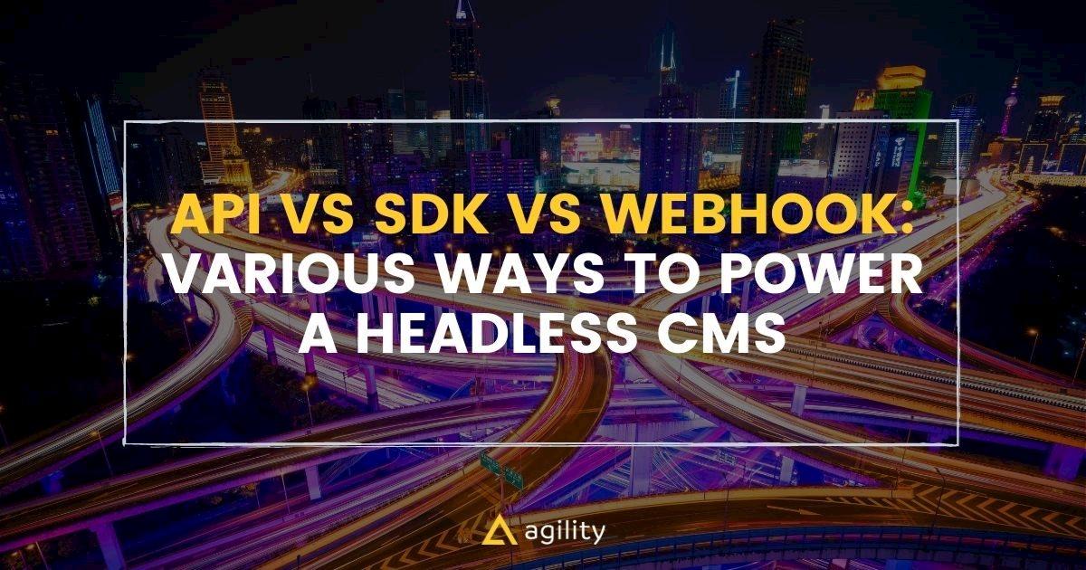 API vs SDK vs WEBHOOKS