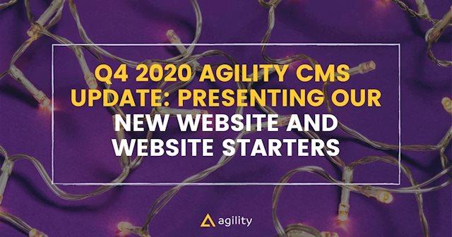 agility cms new website announcement