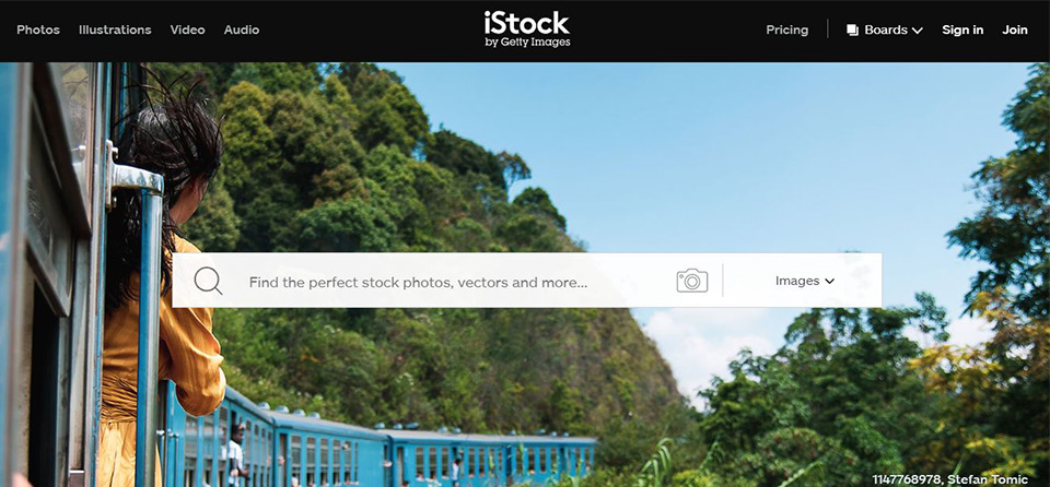 iStock Paid Stock Image Home Page