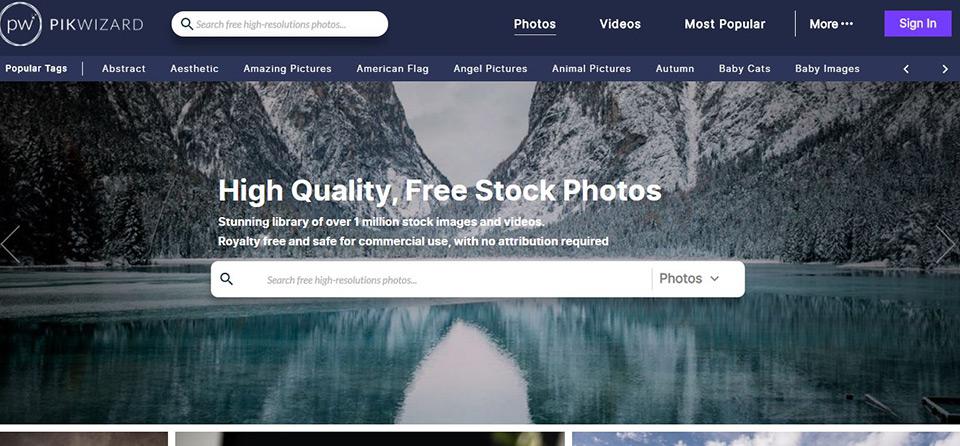 Pikwizard Free Stock Image Home Page