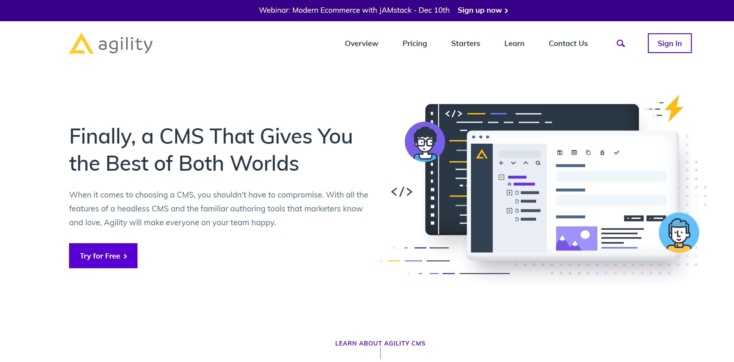 Agility CMS new website