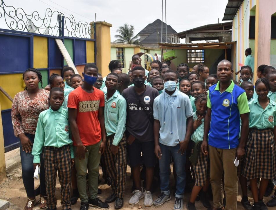 Oluwanifemi Dhanusi with students