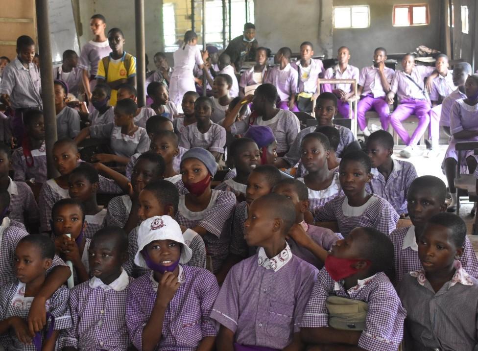 TWE school visit for teach launching blog website
