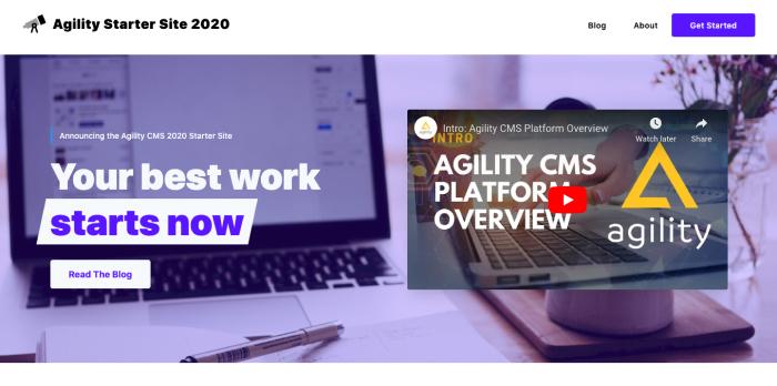 Agility CMS + Next.js Starter Site 2020