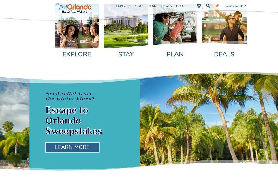 Visit orlando headless cms website screenshot